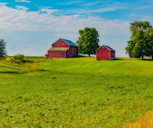 indiana-farm-on-a-hill-with-springtime-crop-picture-id954034318